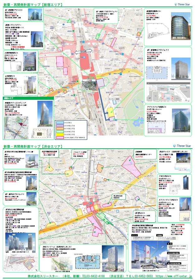 新宿・渋谷エリア開発マップ