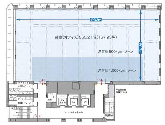 銀泉新橋第2ビル平面図