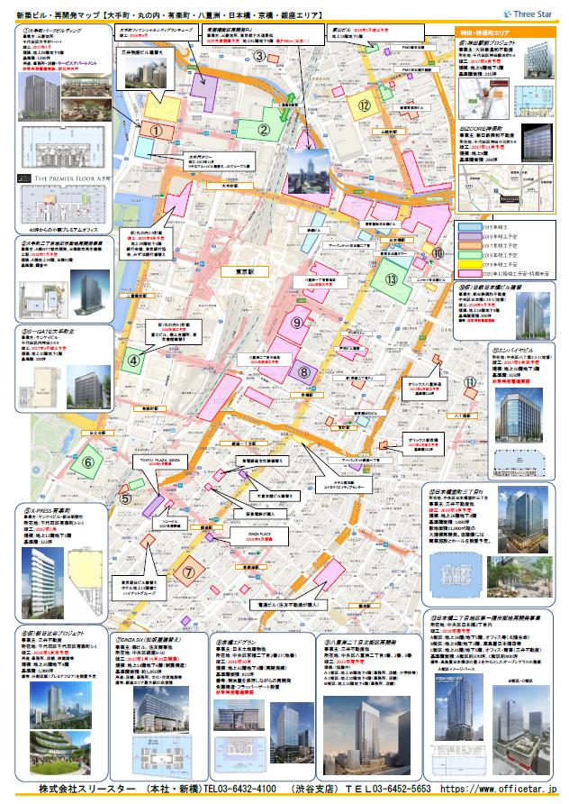 東京駅周辺エリア開発マップ
