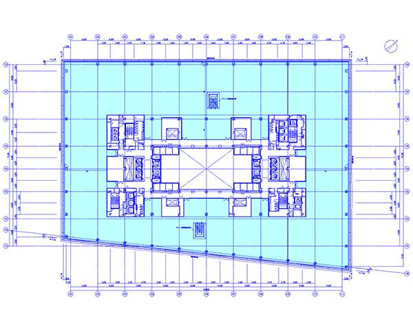 GINZASIX基準階平面図