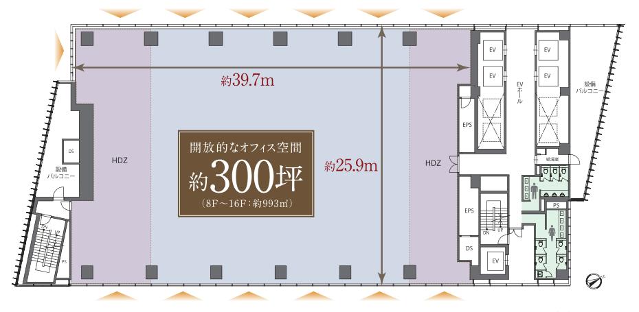 神宮前タワービルディング平面図