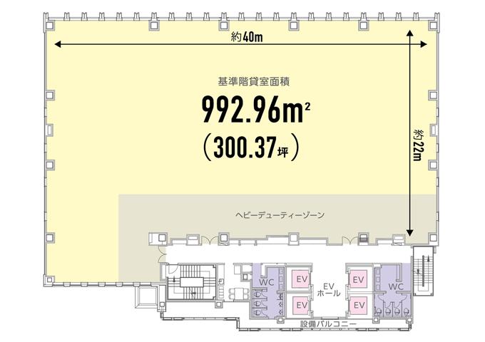 S-GATE赤坂山王平面図