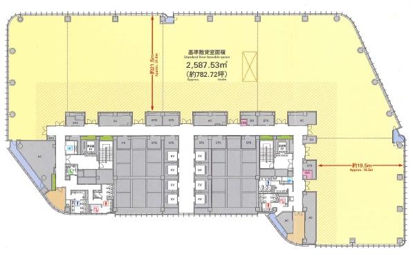 赤坂インターシティAIR平面図