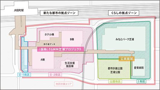 仮)TGMM芝浦プロジェクト配置図