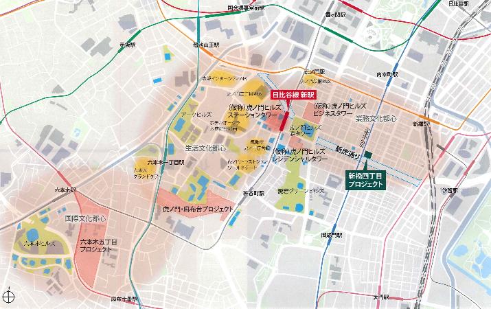 新虎通りCOREアクセス