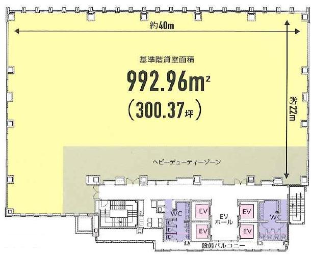 S-GATE赤坂山王ビル平面図