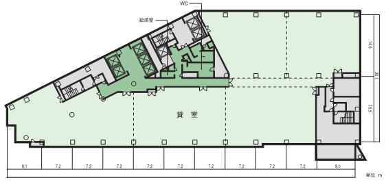 小田急サザンタワー平面図