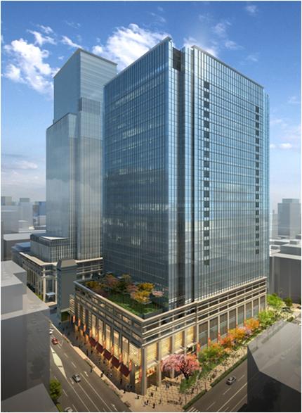 日本橋室町3丁目プロジェクト外観パース