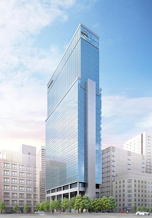 仮)新橋1丁目プロジェクト外観イメージパース