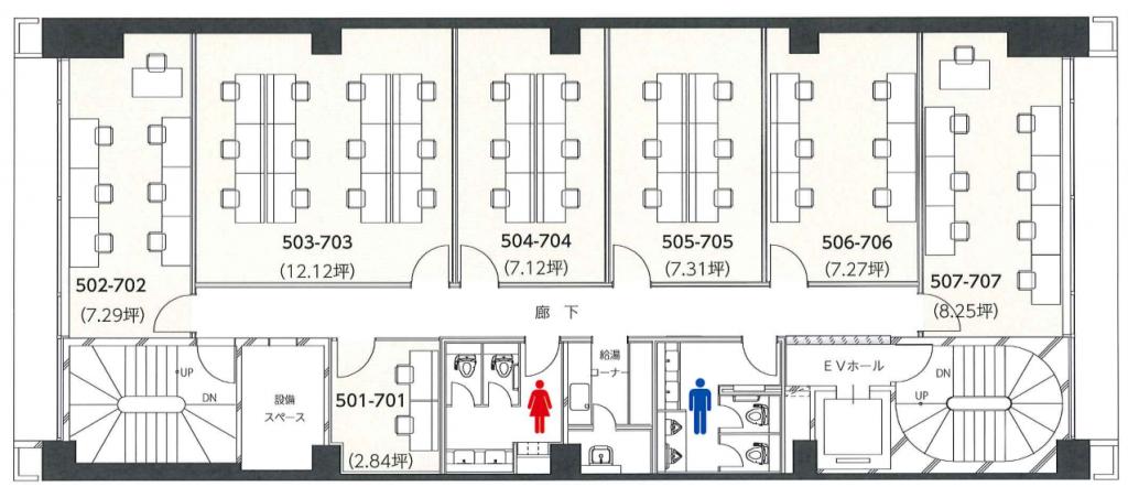 新宿レンタルオフィス平面図