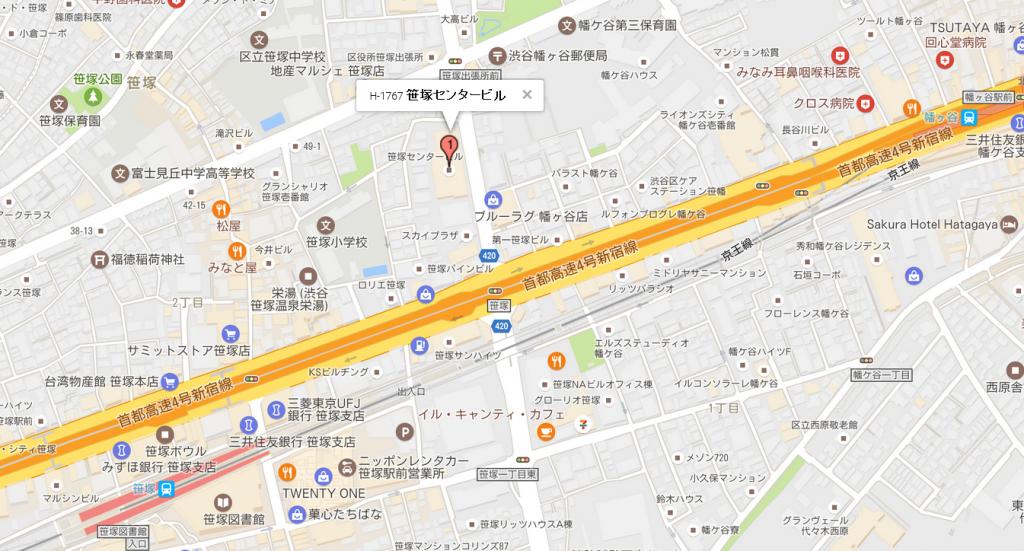 笹塚センタービル立地
