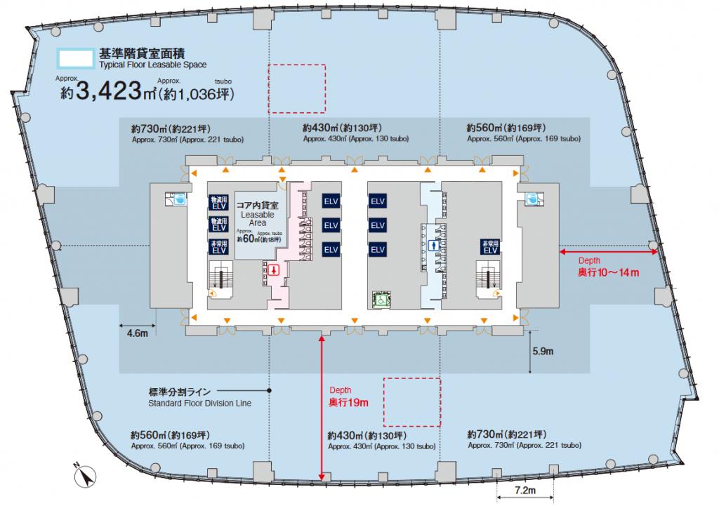 虎ノ門ヒルズ平面図