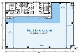 仮)京橋2丁目プロジェクト平面図