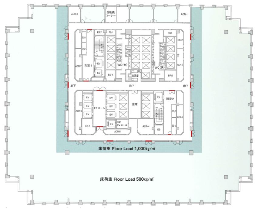 品川グランドセントラルタワー平面図