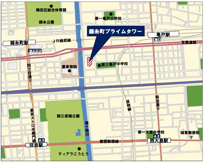 錦糸町プライムタワーアクセス