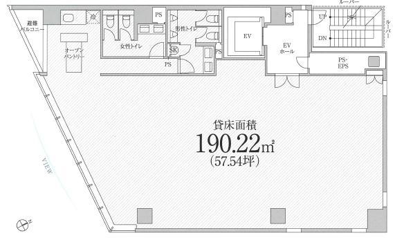 PMO京橋東ビル外観平面図