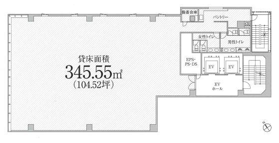 PMO東新橋ビル平面図