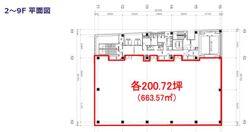 エスエス製薬本社ビル 2-9F平面図