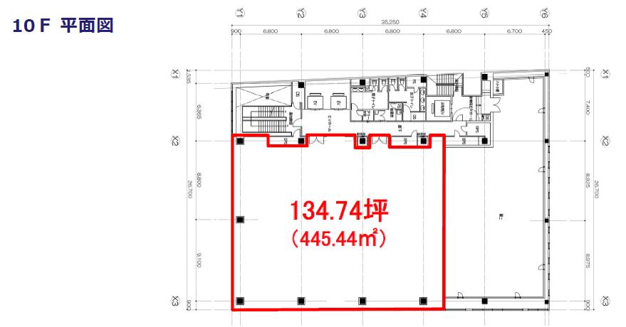 エスエス製薬本社ビル 10F平面図