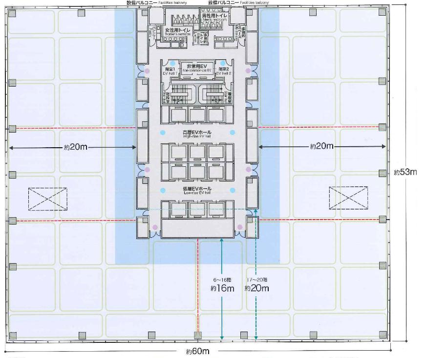 有明セントラルタワー平面図