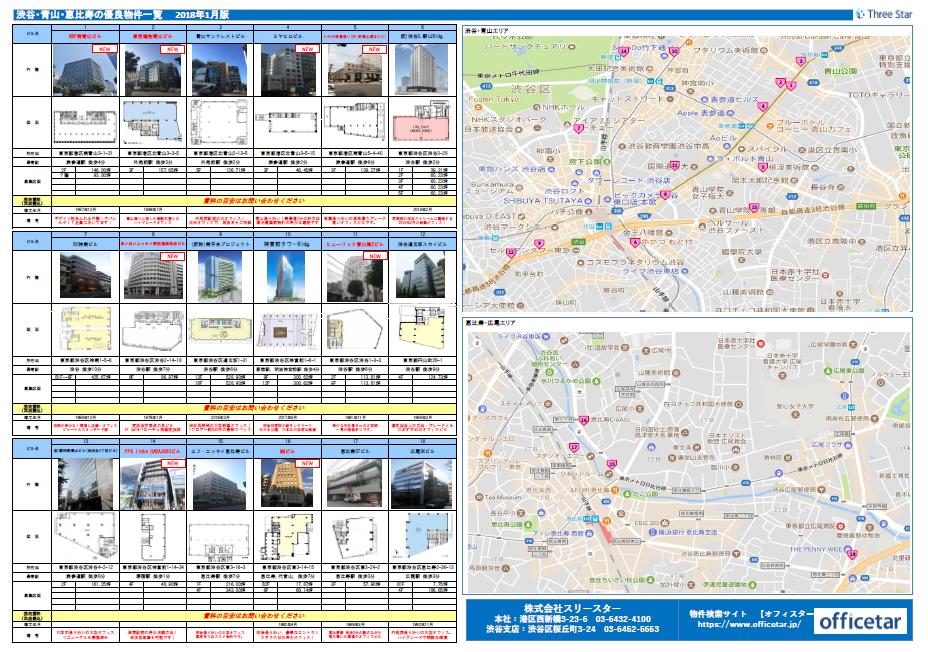 渋谷・恵比寿・青山お勧め物件2018年1月