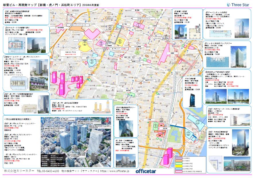 再開発マップ(新橋虎ノ門)