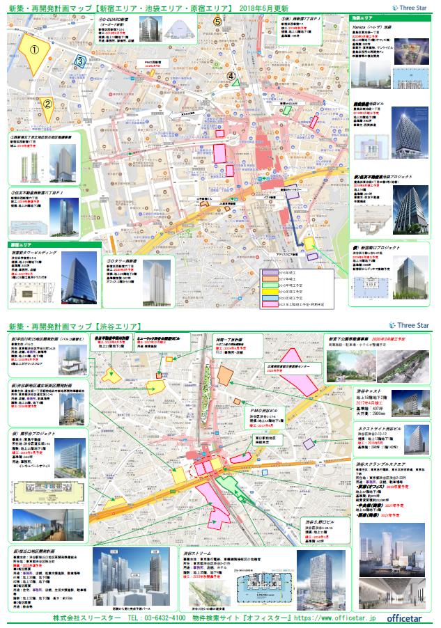 再開発マップ(新宿渋谷)