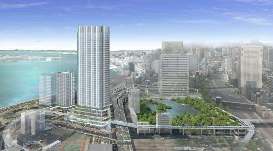竹芝地区開発計画のデッキイメージ